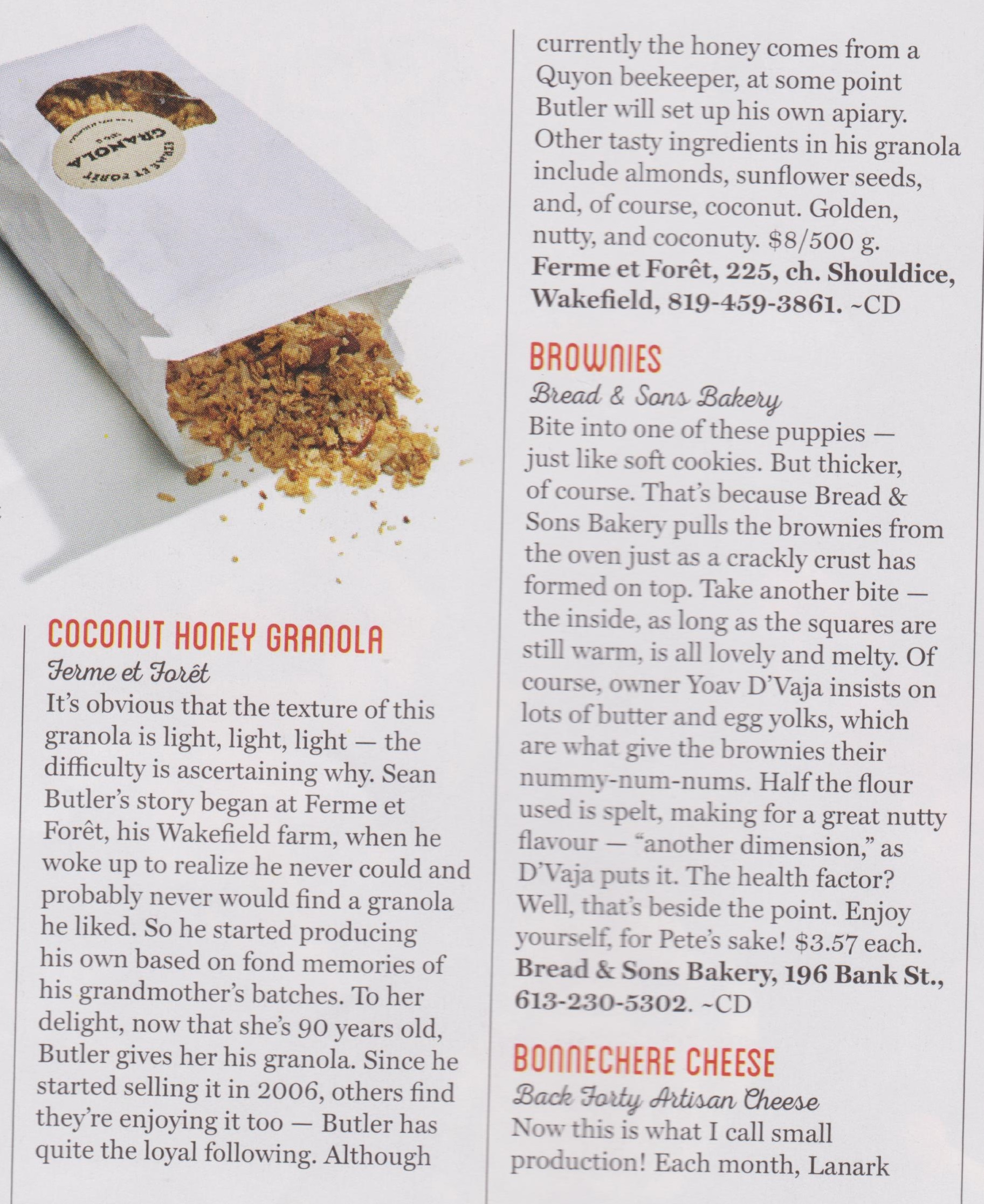 granola in Ottawa Magazine - cropped